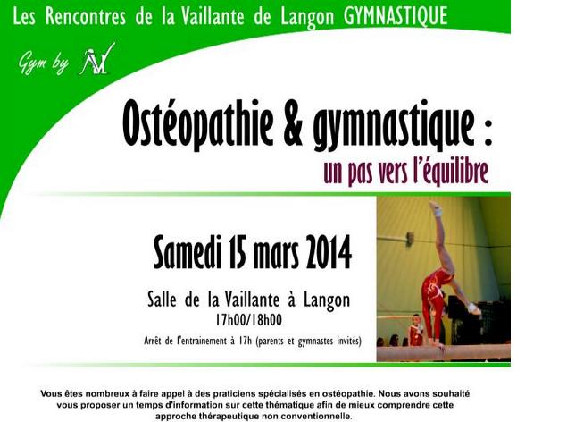 Affiche ostéopathie